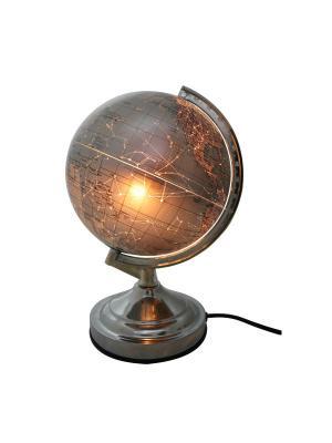 Глобус c подсветкой, 20см Rotondo. Цвет: коричневый