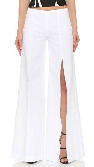 Широкие брюки KAUFMANFRANCO. Цвет: белый
