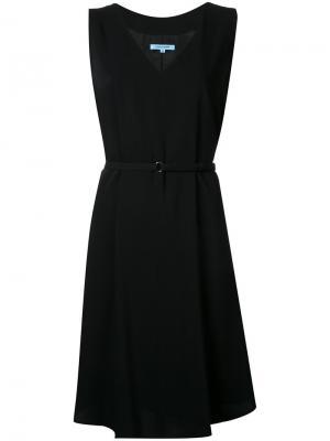 Плиссированное платье Guild Prime. Цвет: чёрный