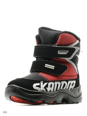 Ботинки Skandia. Цвет: черный, красный