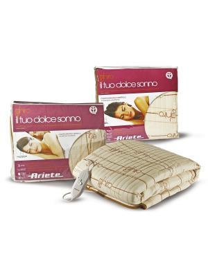 Электрические одеяла  Ariete Электрическое одеяло 8811. 60 X 2 Вт, двуспальное, стеганое. Цвет: бежевый