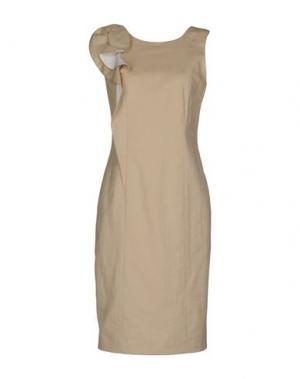 Короткое платье FABRIZIO LENZI. Цвет: песочный