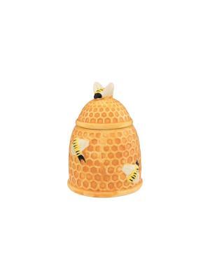 Горшочек для меда Пчелки на сотах Elan Gallery. Цвет: бежевый, желтый