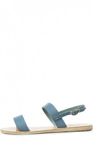 Кожаные сандалии Clio Ancient Greek Sandals. Цвет: голубой