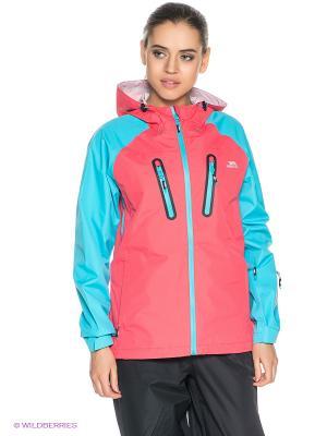 Куртка Trespass. Цвет: коралловый, голубой