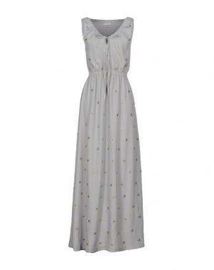 Длинное платье BEAYUKMUI. Цвет: серый