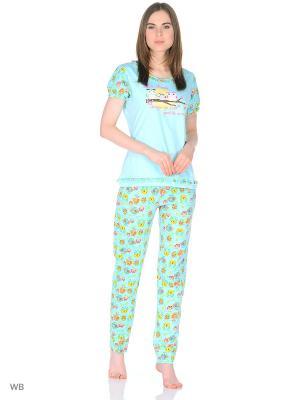 Пижама хлопковая t-sod. Цвет: зеленый