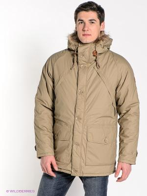 Куртка Wrangler. Цвет: бежевый