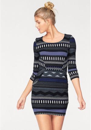 Платье AJC. Цвет: синий/лиловый, черный/белый, черный/бордовый