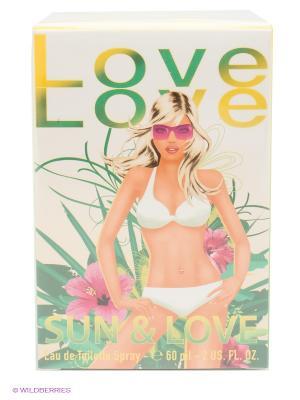 Love Sun&love Ж Товар Туалетная вода 60 мл. Цвет: зеленый, розовый, желтый, белый