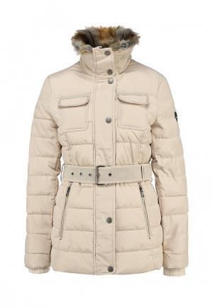 Куртка утепленная Halifax. Цвет: бежевый