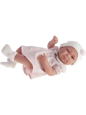 Кукла-младенец Оливия в розовом, 42см Antonio Juan. Цвет: бледно-розовый