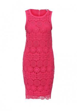 Платье AngelEye London. Цвет: фуксия