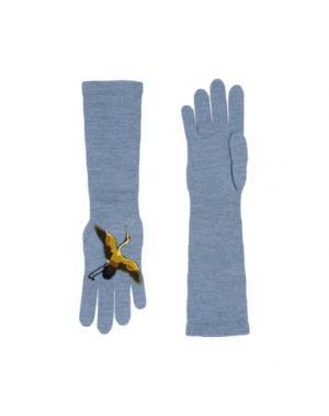 Перчатки DSQUARED2. Цвет: небесно-голубой