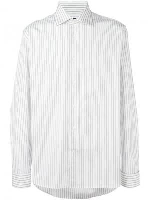 Рубашка в полоску Canali. Цвет: белый
