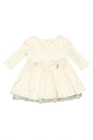 Платье STEFANIA. Цвет: молочный