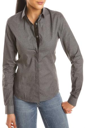 Рубашка GAZOIL. Цвет: серый