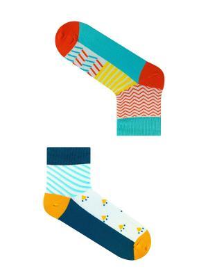 Набор Утро в Киото (2 пары упаковке), дизайнерские носки SOXshop. Цвет: синий, красный, лазурный