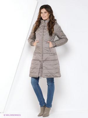 Пальто DizzyWay. Цвет: светло-коричневый