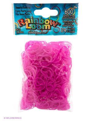 Резинки Пастелнорозовый коллекци Леденцы RAINBOWLOOM. Цвет: розовый