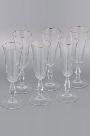Набор бокалов, 6 шт Pasabahce. Цвет: золотой