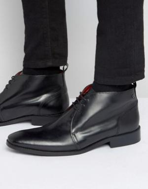 Base London Кожаные ботинки чукка Devon. Цвет: черный