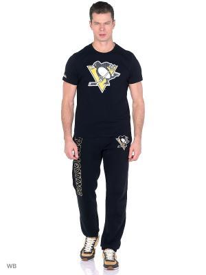 Футболка NHL Penguins Atributika & Club. Цвет: черный