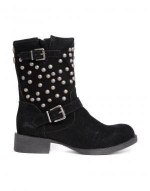 Ботинки с заклепками  Krush Blowfish. Цвет: black fawn