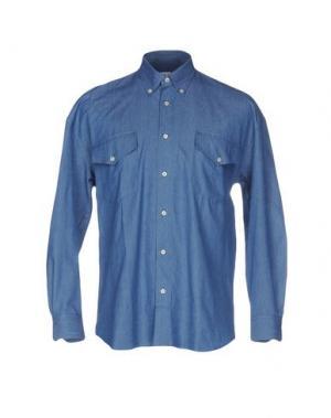 Джинсовая рубашка CAMO. Цвет: синий