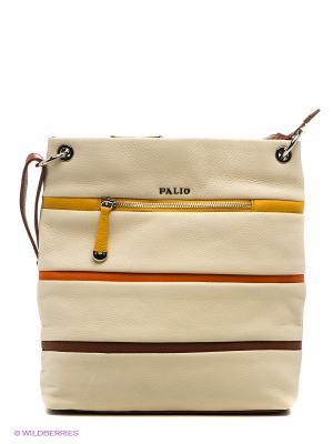 Сумка Palio. Цвет: светло-бежевый, оранжевый, желтый, темно-коричневый
