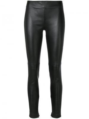Байкерские леггинсы Givenchy. Цвет: чёрный