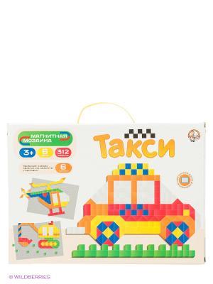 Магнитная мозаика. Такси Десятое королевство. Цвет: желтый, зеленый, красный