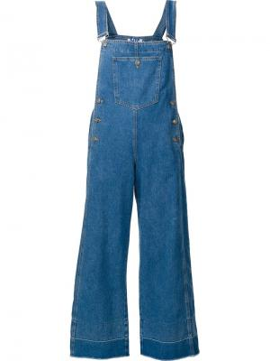 Cropped overalls Steve J & Yoni P. Цвет: синий