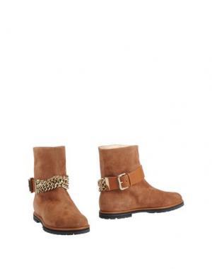 Полусапоги и высокие ботинки VICINI TAPEET. Цвет: коричневый