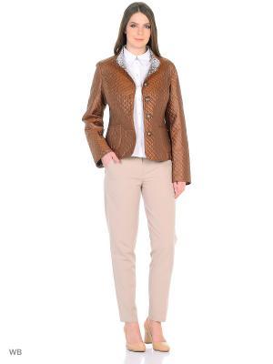 Куртка Lanicka. Цвет: коричневый, светло-серый