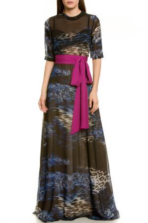 Платье LeVall. Цвет: сине-малиновый