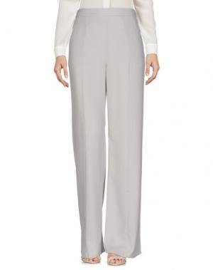 Повседневные брюки EQUIPMENT FEMME. Цвет: светло-серый
