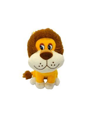 Львенок Леон, озвученный, 19 см(MP-HH-R9045E) MAXITOYS. Цвет: желтый, коричневый, оранжевый