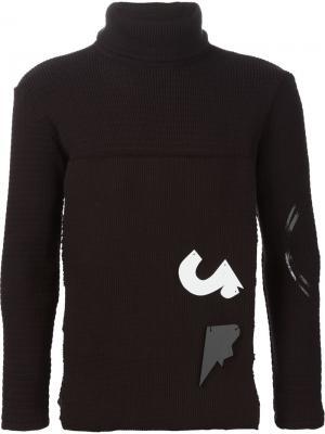 Декорированный свитер с высоким горлом Klar. Цвет: коричневый