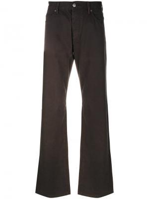 Расклешенные джинсы свободного кроя Armani Jeans. Цвет: коричневый