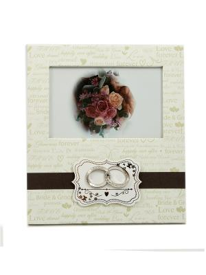 Фоторамка Обручальные кольца Русские подарки. Цвет: белый