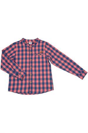Рубашка FIFTEEN. Цвет: сине-розовый