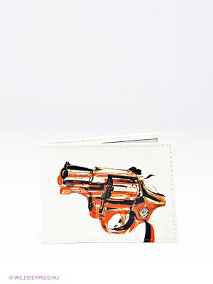 Обложка для студенческого Mitya Veselkov. Цвет: белый, черный, оранжевый