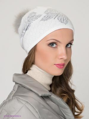 Шапка FOMAS. Цвет: белый, светло-серый