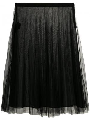 Pleated tulle skirt Versace. Цвет: чёрный