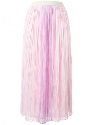 Юбка миди из тюля Agnona. Цвет: розовый и фиолетовый