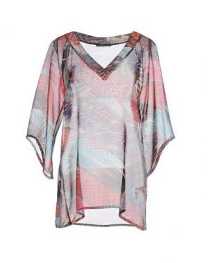 Блузка MY SIS. Цвет: пурпурный