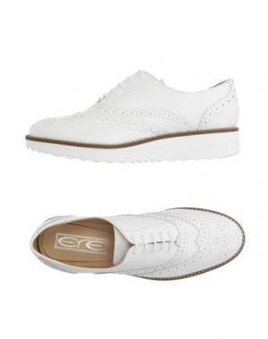 Обувь на шнурках EYE. Цвет: белый