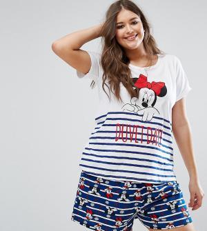 Yours Пижамный комплект с Минни-Маус Clothing. Цвет: мульти