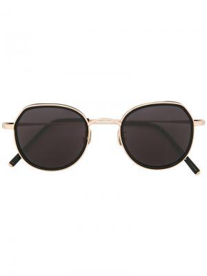 Круглые солнцезащитные очки Maska. Цвет: чёрный
